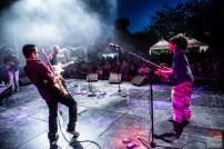 Aymeric Maini (vocals, guitar), David Le Deunff (guitar, vocals), Isla (Julia Charler), Hervé Godard (bass). Aymeric Maini @ 5ème Blues Party, Les Jardins du Millenium, l'Isle d'Abeau (France), 10.06.2017. (c) Christophe Losberger