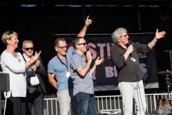 Autorités Municipales avec Gilles De La Asuncion (Millenium), Francis Rateau et Cedric Vernet (Blues Café) @ 5ème Blues Party, Les Jardins du Millenium, l'Isle d'Abeau (France), 10.06.2017. (c) Christophe Losberger