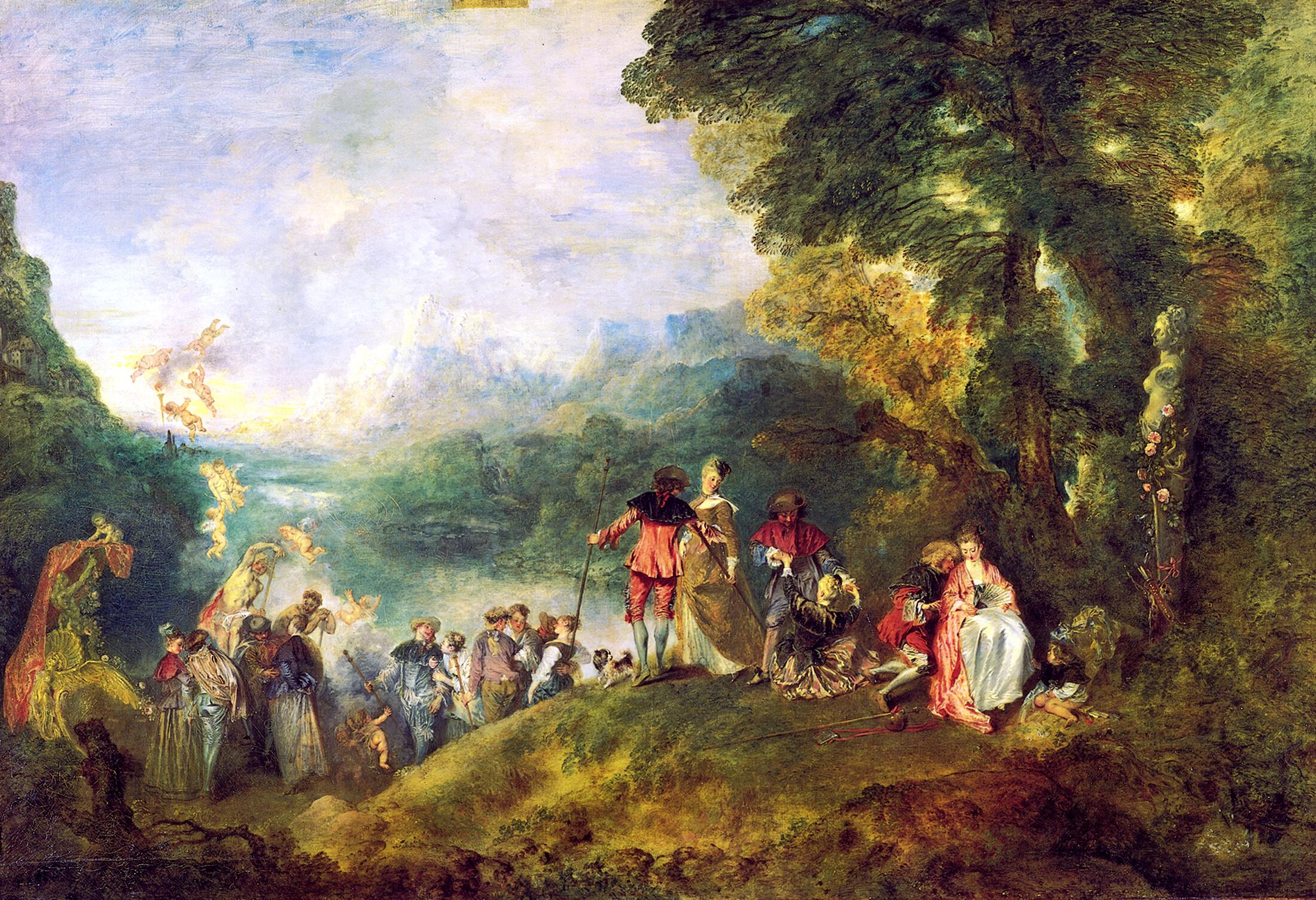 Watteau - L'embarquement pour Cythère