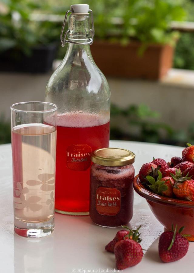 Sirop et confiture de fraise