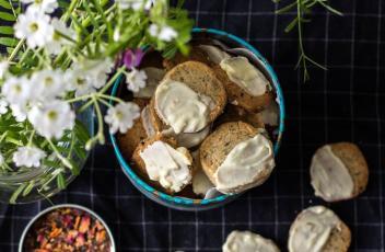 Sablés au thé du Hammam et chocolat blanc