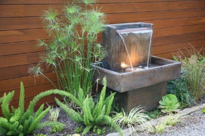 installation d une fontaine de jardin