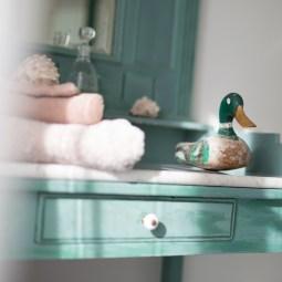 la salle de bain Jaune