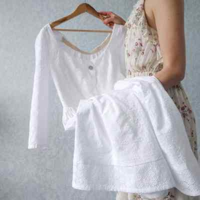 broderie anglaise lace white dress
