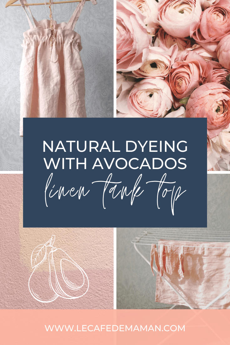 natural dyeing with avocados