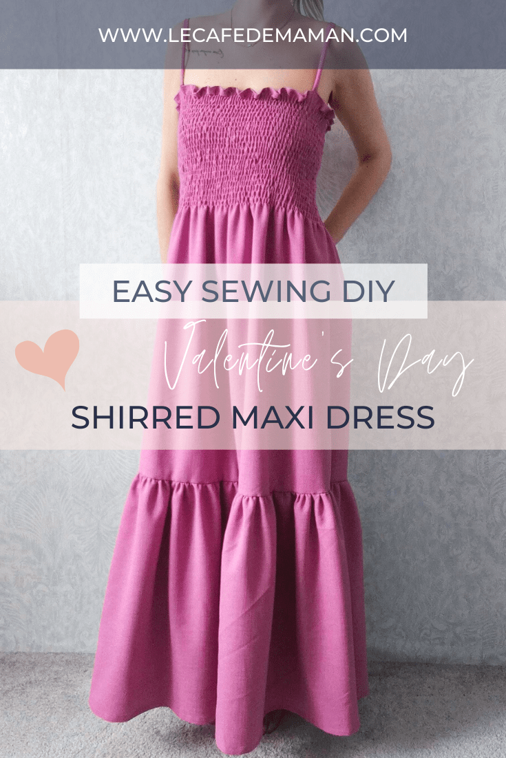 Shirred dress sewing project
