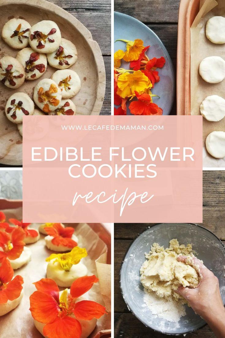 edible flower cookies recipe