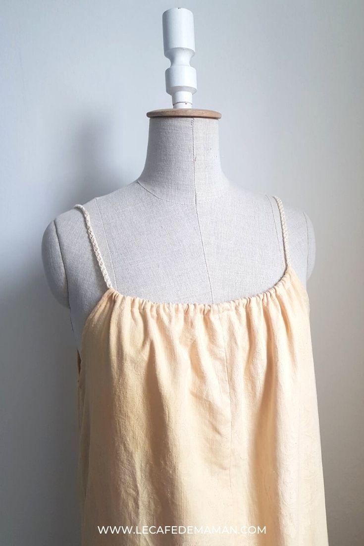 easy upcycled slip dress