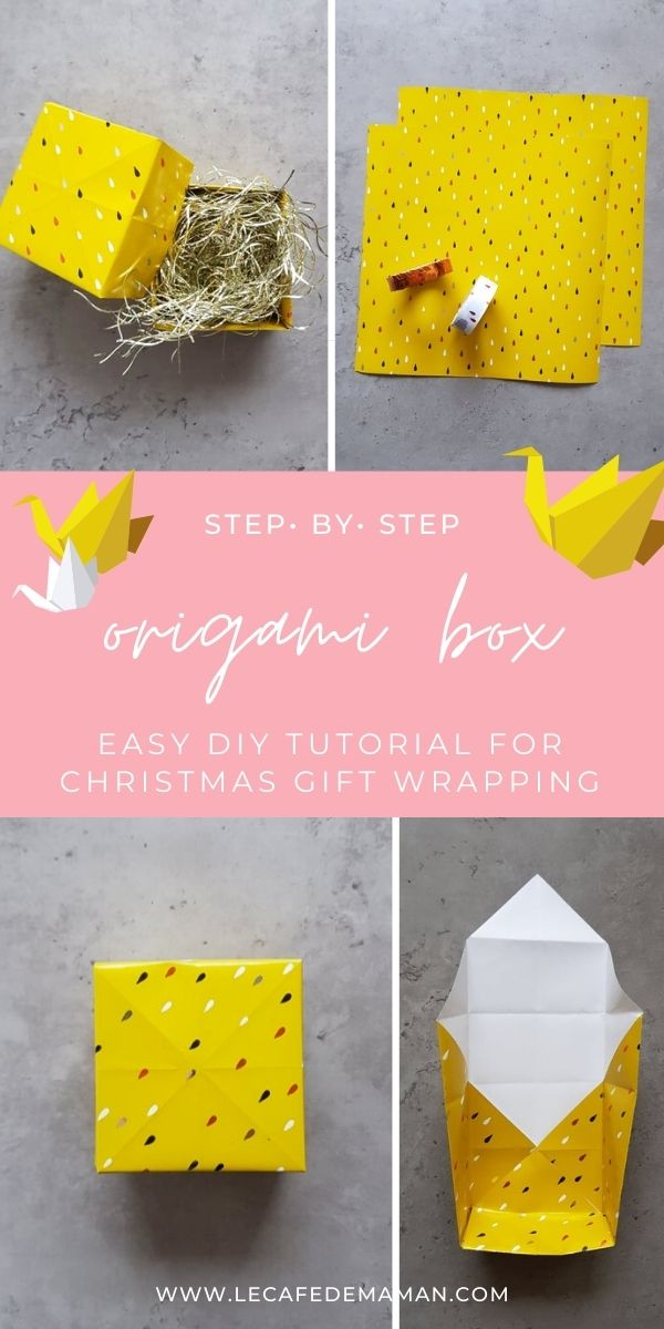 easy origami box tutorial