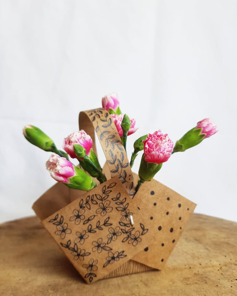 diy may day flower basket