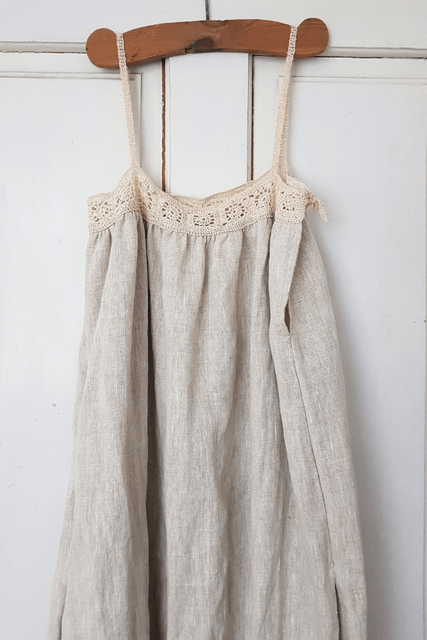 summer dress Clemence with crochet detailing