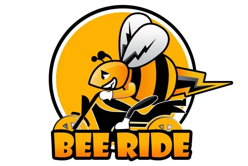 logo beeride application comotorage