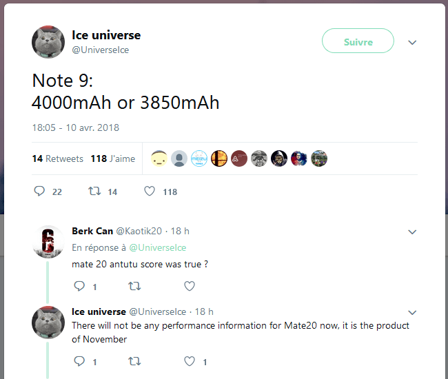 IceUniverse-Tweet Batterie 4000 mAh