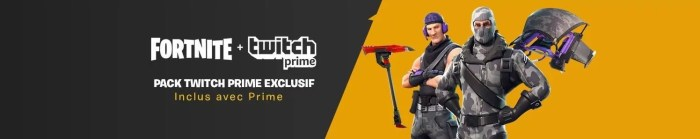 Twitch Prime Fortnite skin gratuit