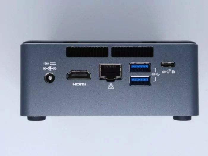 Intel NUC-La face arrière