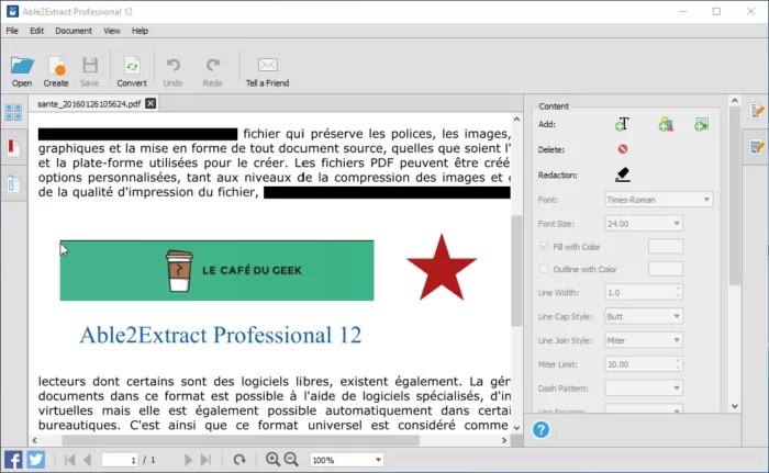 Test Able2extract Professional Le Convertisseur Editeur De Pdf