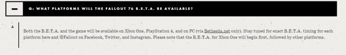 FAQ bethesda Fallout