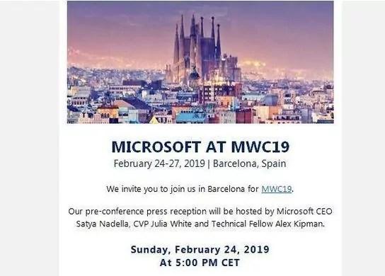 Invitation MWC microsoft