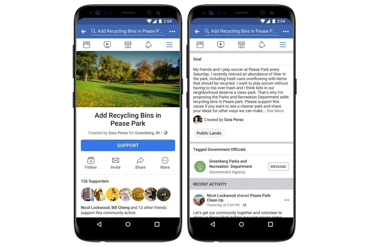 Les pétitions Facebook arrivent