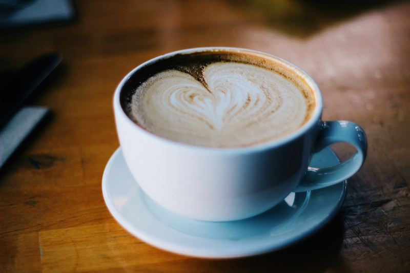Coeur cappuccino