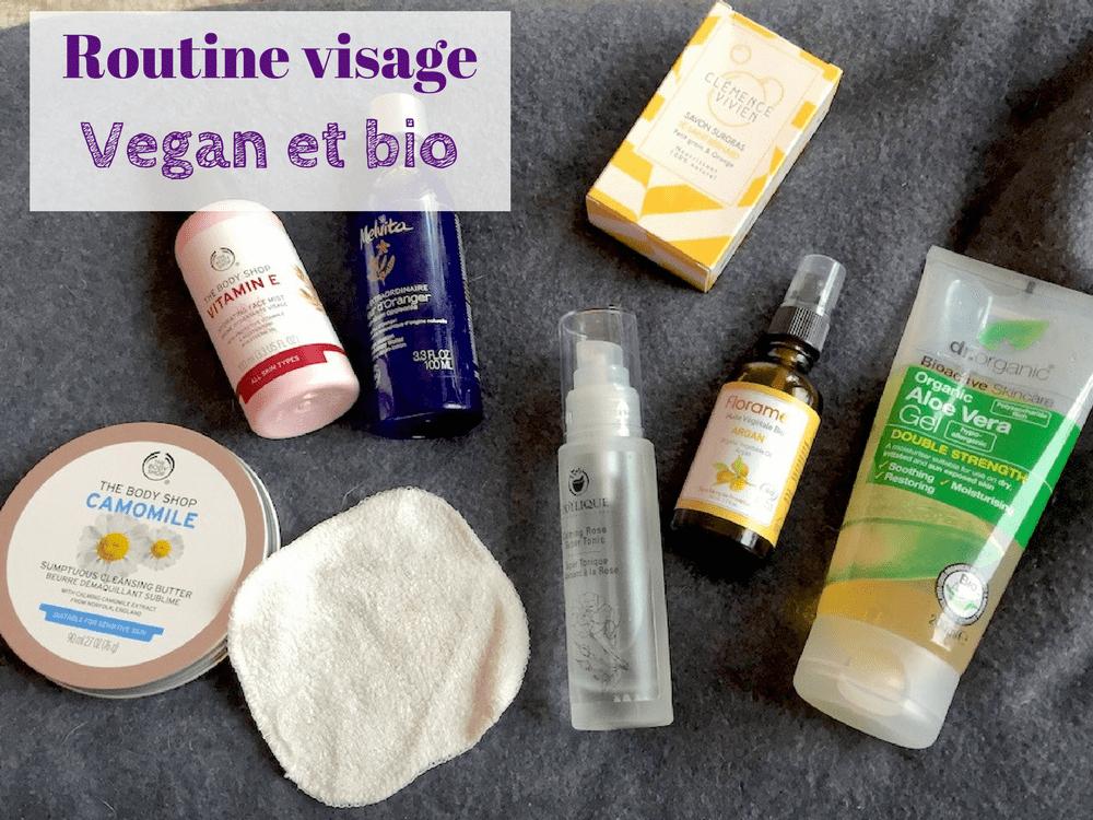Routine visage : mes produits cosmétiques vegan et bio pour peau sèche et sensible