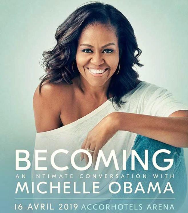 La conférence de Michelle Obama à Paris en Avril 2019 pour la promotion de son livre Devenir