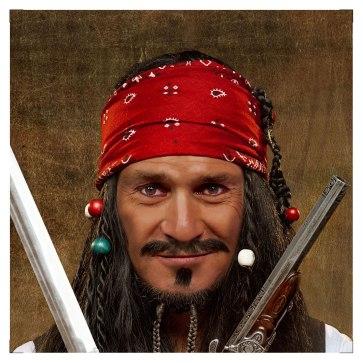 Le Juste Prix : Vincent Lagaf' en pirate.