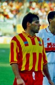 Baldieri con la maglia del Lecce