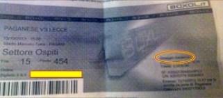 biglietto Pagani