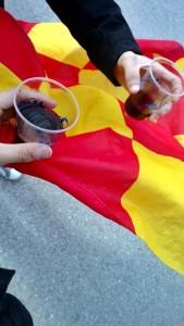 Gubbio vino e bandiera Lecce
