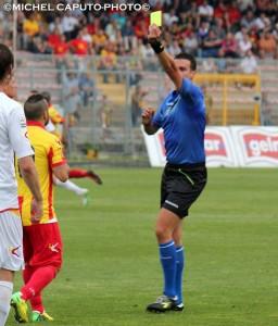 ammonizione Miccoli col Benevento play-off