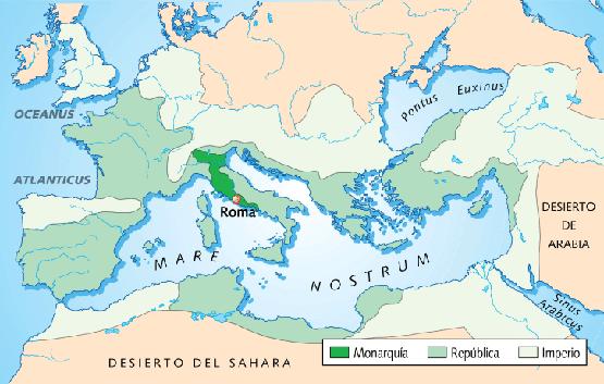 Resultado de imagen de historia de roma mapa