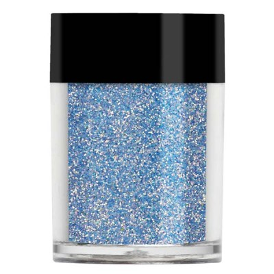 Nail art glitter in a pale turquoise iridescent colour.