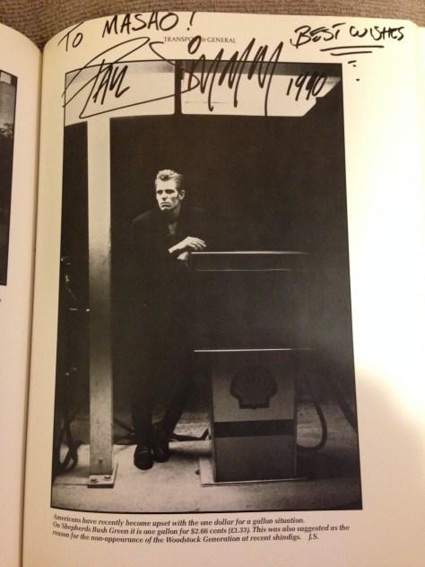 日本公演にも同行したペニー・スミスの写真集からポールお気に入りの一枚を選んでもらった。