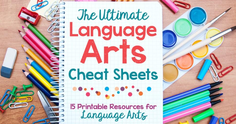 Language Arts Cheat Sheets FB