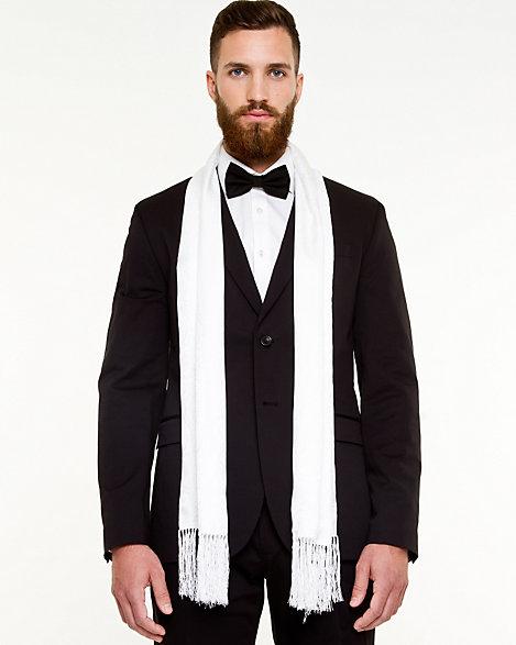 Le Chteau Silk Blend Tuxedo Scarf
