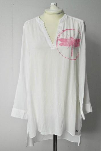 Pink Print on White Tunic Size 12/40
