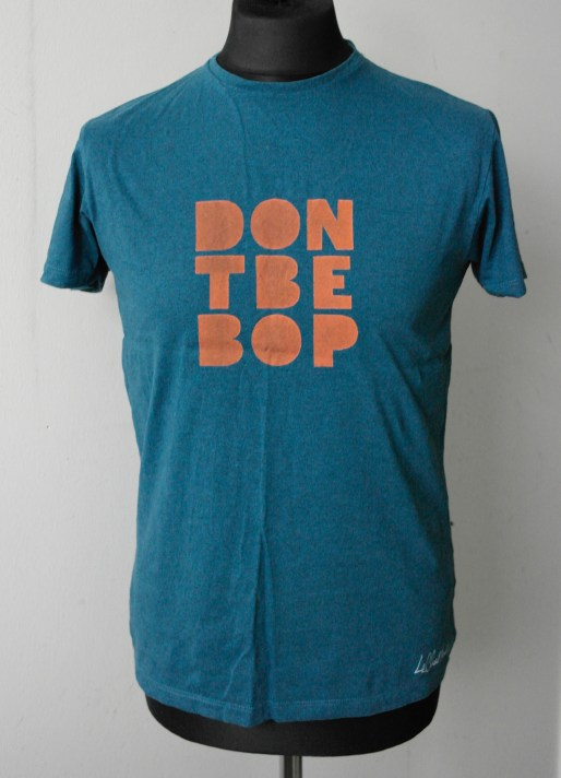 Orange on Blue T-shirt — Sizes M & L
