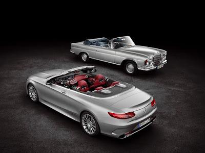 Le cabriolet Classe S aux côtés de son ancêtre _ photo Mercedes