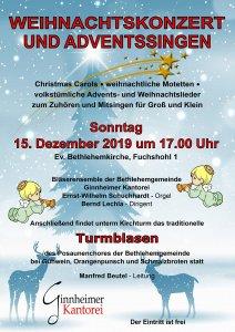 Weihnachtskonzert 2019 Bethlehemgemeinde Frankfurt