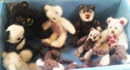 Needle Felted Mini Teddies