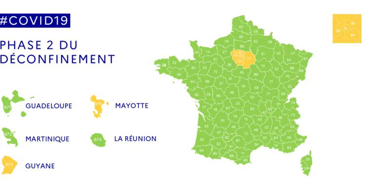 carte déconfinement