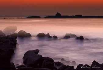 St Philibert couché de soleil mer en pose longue