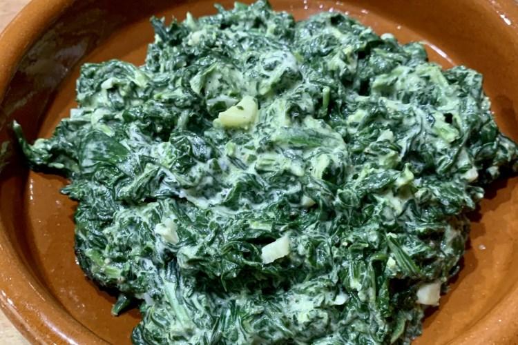 Knoblauch-Spinat