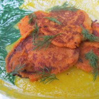 Delicious mediterranean-style salty pancakes – a recipe containing sweet lupin