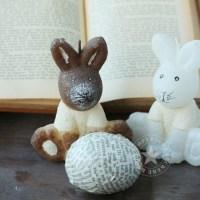 Basteln mit alten Büchern: Osterdeko
