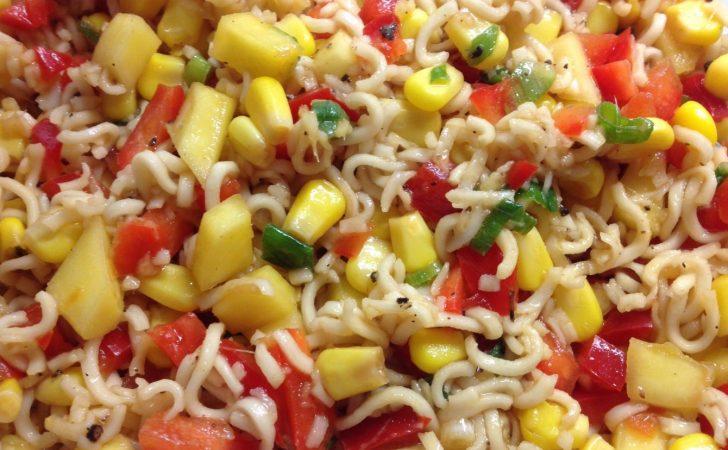 Paprika Mais Salat mit Mango, Ingwer und Chili