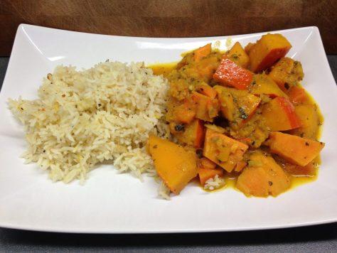Kürbis Süßkartoffel Curry