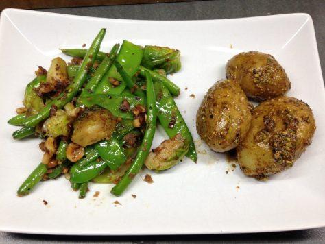 Bohnengemüse a la Ottolenghi mit Dukkah Kartoffeln