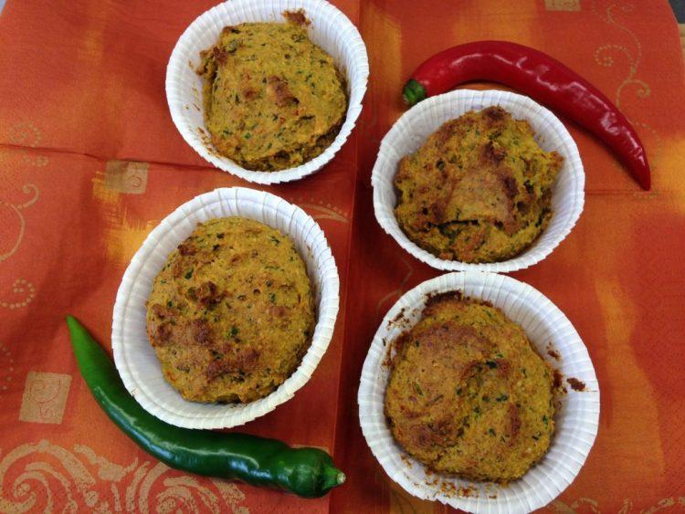 Süßkartoffel Muffins mit Chili und Kräutern